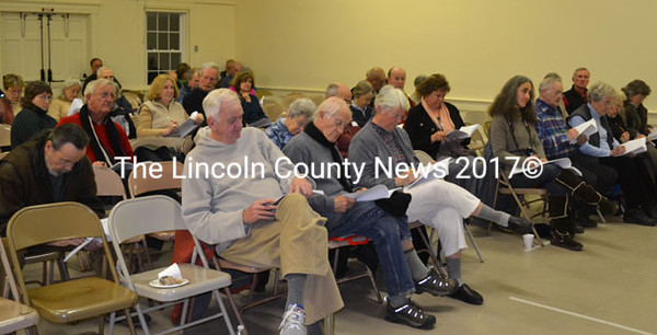 Southport residents exercise their vote on town affairs March 3. (Kathy Onorato photo)