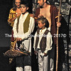 """The first shows Adam and Eve (Landon Sholar and Kristen Martin) with their sons Cain and Abel, as young children in the  Boothbay Playhouse production of """"Children of Eden."""" (Photo courtesy Boothbay Playhouse)"""