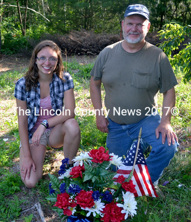 Katherine and Phil Newcombe, of Whitefield, have dedicated themselves to unfolding the history of the families buried in the Edgecomb Cemetery. (Kathy Onorato photo)