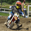 Zachary Farrin rounds a hairpin turn while racing his dirt bike in a motorcross race. (Photo courtesy Farrin family)