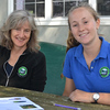 Jody Jones (left) and Zoe Kitchel, the executive director and inaugural Railsback Fellow of Damariscotta Lake Watershed Association, respectively. (D. Lobkowicz photo)