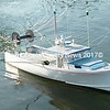 A radio controlled model trawler boat built by Brent Benner of Walppe Model Boatworks.