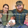 The Taylor-Bailey family welcomed its newest addition near the Eagle's Nest in Newcastle Feb. 20. Shown (from left) are brother AJ Giacomuzzi, Theresa Taylor with Aydan bailey, Mark Bailey, and sister Lilly Bailey. (Sherwood Olin photo)