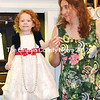Carol Ramsdell (right) and 2-year-old daughter Charlotte Ramsdell dressed up for the benefit organ concert presented by organist Mitch Boucher at the Damariscotta Baptist Church July 27. (Tim Badgley photo)