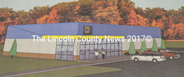 A drawing of the new NAPA auto parts store to be built adjacent to McDonald's on Route 1 in Wiscasset. Owners Vern Brewer and Jack Harworth plan to   be in their new location Oct. 1.