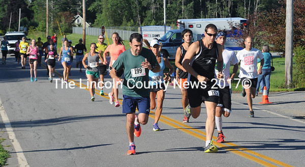Runners are off at the start of the Jefferson 5K.