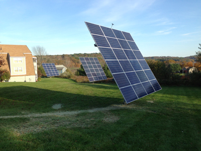 A solar-energy system soaks in sunlight at a Deer Ridge Apartments in Wiscasset. A similar system in Sheepscot could eventually provide the town of 