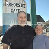 Sam and Betsy Graves stand outside Harborside in South Bristol March 4. The couple is selling the restaurant and store after a quarter-century in business. (J.W. Oliver photo)