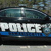 The fourth-grade class at Great Salt Bay Community School chose the color scheme and lettering for the Damariscotta Police Department's new cruiser. (J.W. Oliver photo)