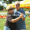 Jana and Dennis Root, of Mason City, Iowa, enjoyed a dance at the Boothbay Commons on Saturday. (Eleanor Cade Busby photo)