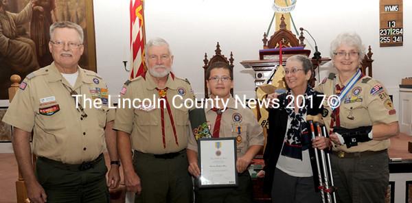 Troop 216 Boy Scout Receives National BSA Medal of Merit