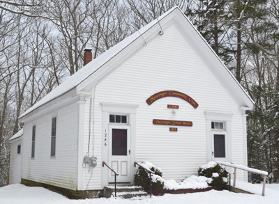 The former Muscongus School House on Route 32 in Bremen has been the home to the Muscongus Community Club for over 60 years. (D. Lobkowicz   photo)