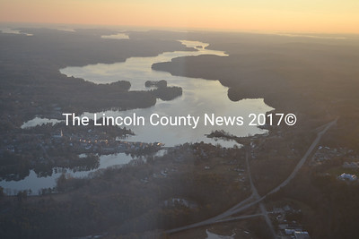 The Twin Villages and the Damariscotta River seen from The Yellow Peril on Dec. 27. (Abigail Adams photo)