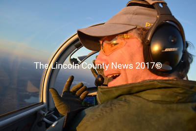 Nick Knobil flies his plane, The Yellow Peril, with no hands on Dec. 27. (Abigail Adams photo)