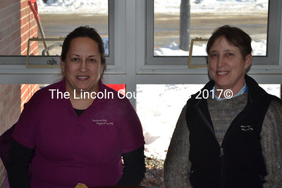 Dr. Jean Beattie (left), and Maureen Reed, of Sheepscot Bay Physical Therapy, are among the presenters at the First Annual Wiscasset WellnessU, Jan. 10.. (Michelle Switzer photo)
