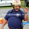 Newcastle Assistant Fire Chief Mike Santos narrates a Jaws of Life demonstration during an open house at the Newcastle fire station Sept. 8, 2012. Santos was a leader in firefighter training efforts as the president of the Lincoln County Fire Academy. (J.W. Oliver photo, LCN file)