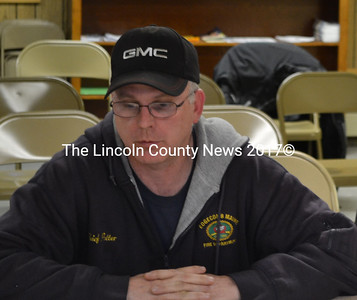 Edgecomb Fire Chief Roy Potter requested full-time status to offset the limitations of the volunteer fire department at the selectmen's meeting Monday, March 9. (Abigail Adams photo)