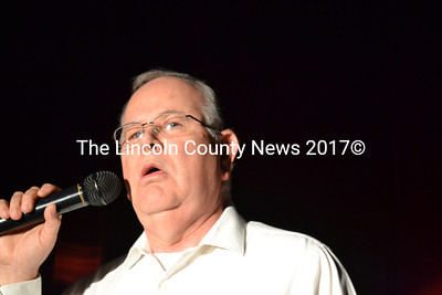 """Wiscasset Middle School Principal Bruce Scally opens the middle school variety show with his rendition of """"Summertime,"""" from the opera """"Porgy and Bess."""" (Charlotte Boynton photo)"""