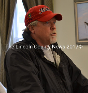 School committee member Glen Craig advocated for the school resource officer at a special meeting held by Wiscasset selectmen to finalize the warrant Friday, April 24. In the final minutes of the meeting, the school resource officer was restored to the warrant. (Abigail Adams photo)