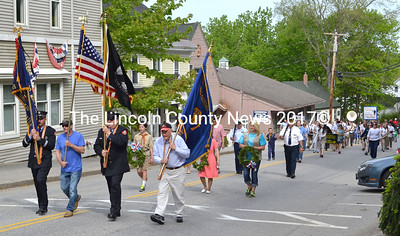 Waldoboro's Memorial Day Parade makes its way up Jefferson Street. (D. Lobkowicz photo)