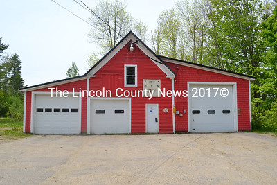 The Coopers Mills Volunteer Fire Department's station in Whitefield on Monday, May 28. The Whitefield planning board approved a development application for the new station, however, the bids recieved for the station's construction were over budget returning the project to the drawing board. (Abigail Adams photo)