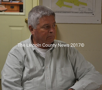 Code Enforcement Officer Stan Waltz at the Edgecomb selectmen's meeting Monday, June 1. Waltz will provide code enforcement services to Edgecomb as part of an inter-local agreement with Wiscasset. (Abigail Adams photo)