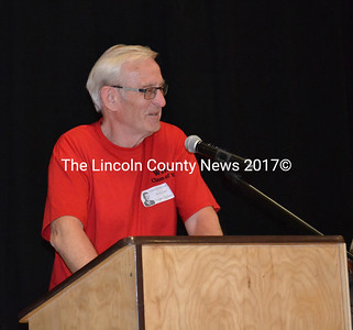 A foreign exchange student from Norway who graduated with the Wiscasset High School Class of 1965, Torger Gjefsen attended the 50th anniversary of his graduation, telling his classmates he will never forget his time at Wiscasset High. (Charlotte Boynton photo)
