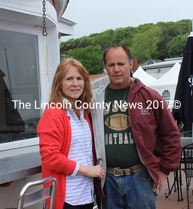Eileen and Dan Miller are the new owners of Lobsterman's Wharf Inn and Restaurant in East Boothbay. The couple also owns the restaurant's nextdoor neighbor, Ocean Point Marina, and Ocean Point Furniture in Damariscotta. (Olivia Canny photo)