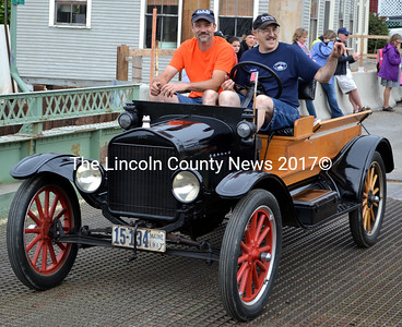 Daniel Kaplinger (left) and Norman Wright in the South Bristol centennial parade. (J.W. Oliver photo)