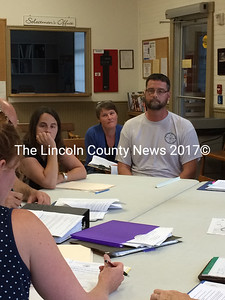 Kelly Maloney (left) and Alva Maloney (right), owners of Maine Kayak in New Harbor, had their  application for a rental shop at Bristol Mills turned down at Bristol Planning Board's meeting on Thursday, July 16. (Olivia Canny photo)