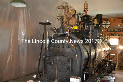 The restoration of Engine No. 9, the last surviving 2-foot steam locomotive constructed by the Portland Locomotive Works Company, is in its final stages at the Wiscasset, Waterville, Farmington Railway Museum in Alna. No. 9 will hopefully be operational by the museum's next annual picnic, museum president Steve Zuppa said. (Abigail Adams photo)