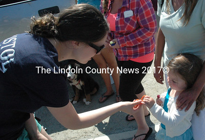 Bristol Fire and Rescue handed out bracelets during the parade on Saturday. (Maia Zewert photo)