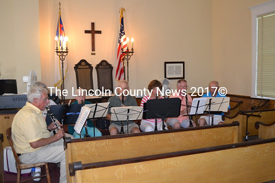 The Clarinotes entertain during the Westport Community Association's 60th anniversary celebration at the historic Westport Community Church Sunday, Aug. 16. (Charlotte Boynton photo)