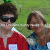 Bridesmaid Jan Falkin and Dot Howell (left to right) reunited at Dot's 90th birthday celebration on Aug. 22 in Whitefield. Falkin helped Howell pick-out china, silverware, and her wedding dress for her wedding to Jay Howell in 1948. (Abigail Adams photo)