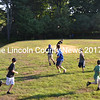 Students at Edgecomb's Eddy School play a quick game of football before heading to their classrooms for the first day of school Tuesday, Sept. 1. (Abigail Adams photo)