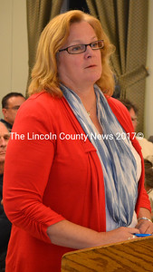 Attorney Wendy Paradis provided Wiscasset selectmen with a legal review of the town's tax-lien acquired property policy at their Oct. 6 meeting. (Abigail Adams photo)