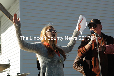 "Daja Rock took first place in the 12 and over division of the pumpkin pie eating contest held Saturday, Oct. 10. ""It just goes to show us girls can do it too,"" Rock said. (Maia Zewert photo)"