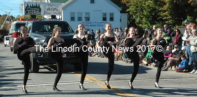 The Midcoast Dance Studio Renys' Rockets dance team entertained parade goers during the Giant Pumpkin Parade Saturday, Oct. 10. (Maia Zewert photo)