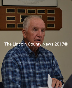 South Bristol selectman Chester Rice was elected Chairman of the Lincoln County Budget Advisory Committee, which met in Wiscasset Oct. 8. Rice led the charge in opposing the budgets presented by county department heads. (Abigail Adams photo)