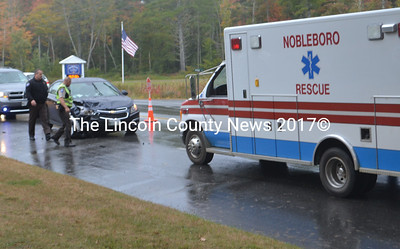 First responders from the Lincoln County Sherrif's Office, Nobleboro Fire and Rescue, Central Lincoln County Ambulance Service and Waldoboro EMS responded to the scene. (Alexander Violo photo)