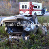 Waldoboro emergency medical workers and firefighters respond to the scene of an accident on Wagner Bridge Road in Waldoboro Oct. 18. (J.W. Oliver photo)