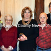 Mobius Direct Service Coordinator Debra Baughman receives the Exemplar Award during the agency's annual meeting at The 1812 Farm in Bristol Mills Monday, Nov. 9. From left: Mobius Executive Director Becca Emmons, Louise Stroud, Baughman, Eric Bowley, and Mobius Board of Directors President William Floyd. (J.W. Oliver photo)
