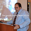 Jay Tattan talks about the improvements in his independence and social life as a result of Mobius programs during the agency's annual meeting at The 1812 Farm in Bristol Mills Monday, Nov. 9. A service recipient since 2006, he now serves as a client representative on the agency's board of directors. (J.W. Oliver photo)