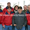 The Yankee Pride Transport crew celebrated Bill Perkins crossing the 4 million mile mark with breakfast at King Eider's Pub, new hats and jackets, and the surprise presentation of a new truck for Perkins Saturday, Nov. 14. Back from left: Kim Guptill, Woodbury McLean, Missy Crockett, and Tyler Crockett. Front from left: Paul Willis, Perkins, and Larry Sidelinger. (J.W. Oliver photo)