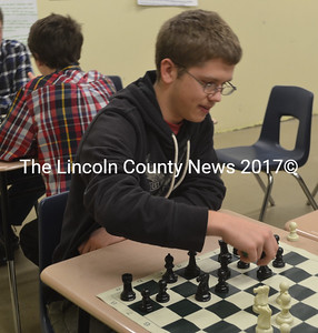 Junior Joseph Powell has been a leading force behind the growth of Medomak Valley High School's Chess Club. (Alexander Violo photo)