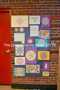 The halls of Wiscasset Middle High School and classrooms are filled with many different kinds of art made by the students of the school. (Charlotte Boynton photo)