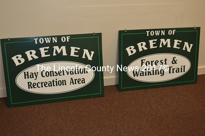 New signs for public recreation sites in the town of Bremen will be installed at their respective locations in the near future. (Alexander Violo photo)