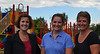 Wiscasset School Department Superintendent Heather Wilmot, Wiscasset School Committee member Chelsea Haggett, and department Administrative Assistant Stacey Souza stand in front of Wiscasset Elementary School's new playground Thursday, Aug. 27. Due to the collaborative effort of the school department and the town, the playground was open for students on their first day of school Monday, Aug. 31. (Abigail Adams photo)
