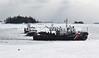 The U.S. Coast Guard Cutter Tackle breaks ice around fishing vessels in Bremen Feb. 24. (D. Lobkowicz photo)