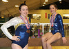 CLC YMCA gymasts Katie Colomb and Maddy Russ with their medals from the Maine USAG championships.  Russ placed first all around and in three events at the USAG State Level 7 competition; and Colomb placed third all around at Xcel Platinum. (Paula Roberts photo)